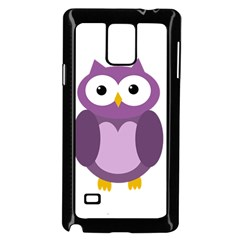 Purple Transparetn Owl Samsung Galaxy Note 4 Case (black)