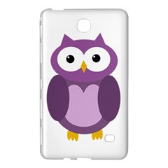 Purple Transparetn Owl Samsung Galaxy Tab 4 (8 ) Hardshell Case