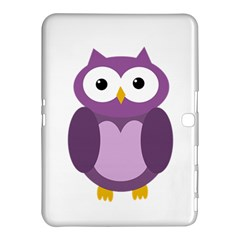 Purple Transparetn Owl Samsung Galaxy Tab 4 (10 1 ) Hardshell Case