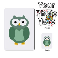 Green Cute Transparent Owl Multi Purpose Cards (rectangle)  by Valentinaart