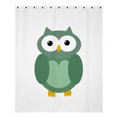 Green Cute Transparent Owl Shower Curtain 60  X 72  (medium)  by Valentinaart