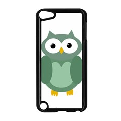 Green Cute Transparent Owl Apple Ipod Touch 5 Case (black)