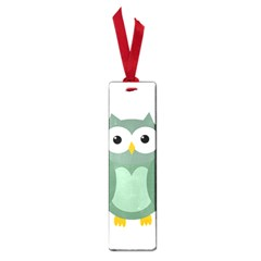Green Cute Transparent Owl Small Book Marks by Valentinaart