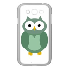 Green Cute Transparent Owl Samsung Galaxy Grand Duos I9082 Case (white) by Valentinaart