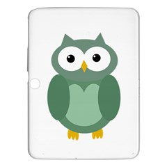Green Cute Transparent Owl Samsung Galaxy Tab 3 (10 1 ) P5200 Hardshell Case  by Valentinaart