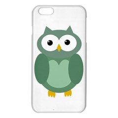 Green Cute Transparent Owl Iphone 6 Plus/6s Plus Tpu Case