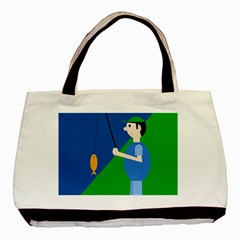 Fisherman Basic Tote Bag by Valentinaart