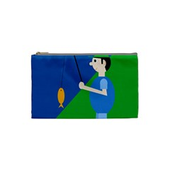 Fisherman Cosmetic Bag (small)  by Valentinaart