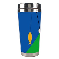 Fisherman Stainless Steel Travel Tumblers by Valentinaart