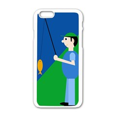 Fisherman Apple Iphone 6/6s White Enamel Case by Valentinaart