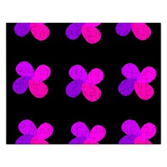 Purple Flowers Rectangular Jigsaw Puzzl by Valentinaart