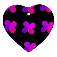 Purple Flowers Heart Ornament (2 Sides) by Valentinaart