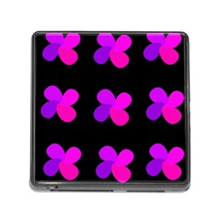 Purple Flowers Memory Card Reader (square) by Valentinaart