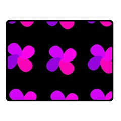 Purple Flowers Fleece Blanket (small) by Valentinaart