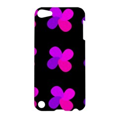Purple Flowers Apple Ipod Touch 5 Hardshell Case by Valentinaart