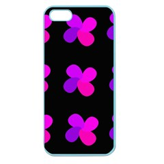 Purple Flowers Apple Seamless Iphone 5 Case (color) by Valentinaart