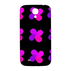 Purple Flowers Samsung Galaxy S4 I9500/i9505  Hardshell Back Case by Valentinaart