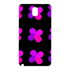 Purple Flowers Samsung Galaxy Note 3 N9005 Hardshell Back Case by Valentinaart