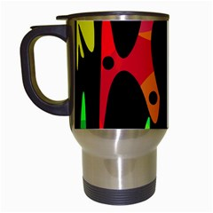 Colorful Abstract Pattern Travel Mugs (white) by Valentinaart