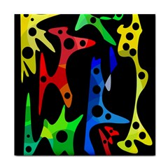 Colorful Abstract Pattern Face Towel by Valentinaart