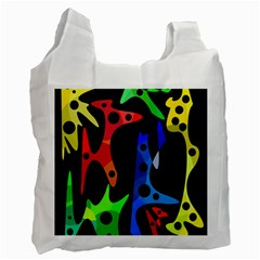Colorful Abstract Pattern Recycle Bag (one Side) by Valentinaart