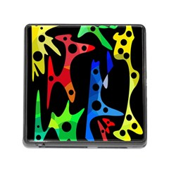 Colorful Abstract Pattern Memory Card Reader (square) by Valentinaart