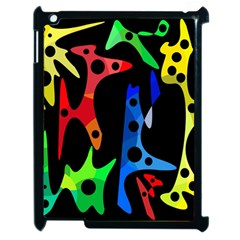 Colorful Abstract Pattern Apple Ipad 2 Case (black) by Valentinaart