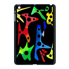 Colorful Abstract Pattern Apple Ipad Mini Case (black) by Valentinaart
