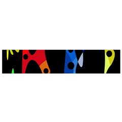 Colorful Abstract Pattern Flano Scarf (small) by Valentinaart