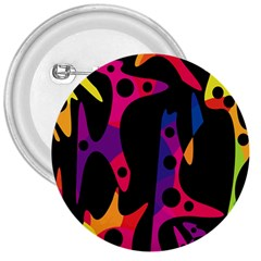 Colorful Pattern 3  Buttons by Valentinaart