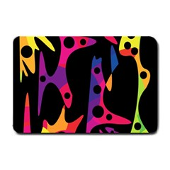 Colorful Pattern Small Doormat  by Valentinaart