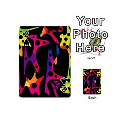 Colorful Pattern Playing Cards 54 (mini)  by Valentinaart