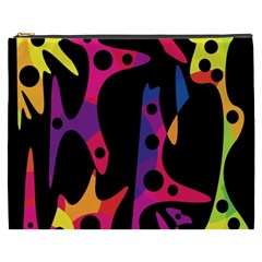 Colorful Pattern Cosmetic Bag (xxxl)  by Valentinaart