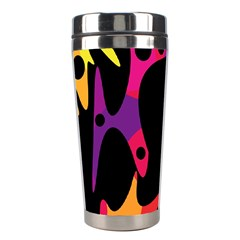 Colorful Pattern Stainless Steel Travel Tumblers by Valentinaart
