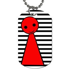 Red Pawn Dog Tag (one Side) by Valentinaart