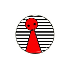 Red Pawn Hat Clip Ball Marker (4 Pack) by Valentinaart