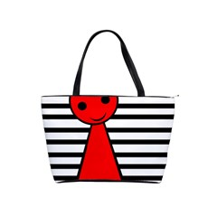 Red Pawn Shoulder Handbags by Valentinaart