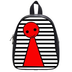 Red Pawn School Bags (small)  by Valentinaart