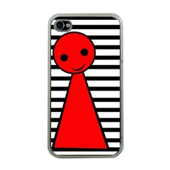 Red Pawn Apple Iphone 4 Case (clear) by Valentinaart