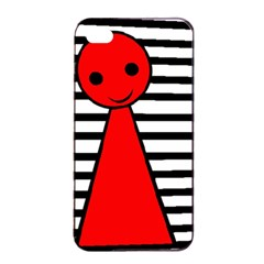 Red Pawn Apple Iphone 4/4s Seamless Case (black) by Valentinaart