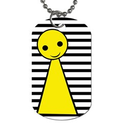 Yellow Pawn Dog Tag (two Sides) by Valentinaart