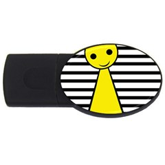 Yellow Pawn Usb Flash Drive Oval (2 Gb)  by Valentinaart