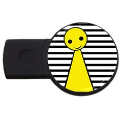 Yellow Pawn Usb Flash Drive Round (4 Gb)  by Valentinaart