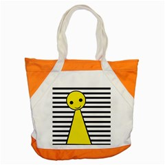 Yellow Pawn Accent Tote Bag by Valentinaart