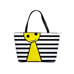 Yellow Pawn Shoulder Handbags by Valentinaart