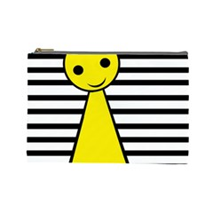 Yellow Pawn Cosmetic Bag (large)  by Valentinaart