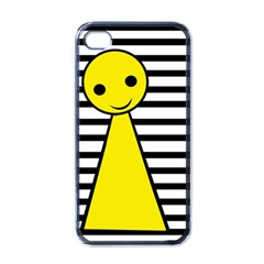 Yellow Pawn Apple Iphone 4 Case (black) by Valentinaart
