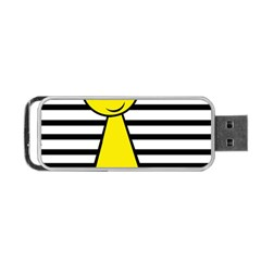 Yellow Pawn Portable Usb Flash (two Sides) by Valentinaart