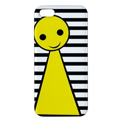 Yellow Pawn Apple Iphone 5 Premium Hardshell Case by Valentinaart