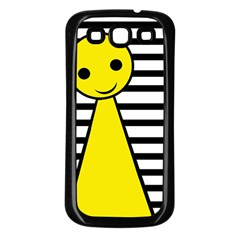 Yellow Pawn Samsung Galaxy S3 Back Case (black) by Valentinaart